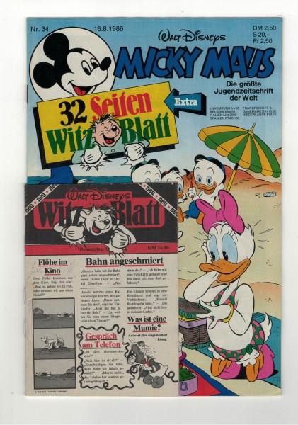 Micky Maus 1986 Nr. 34 / 16.08.1986