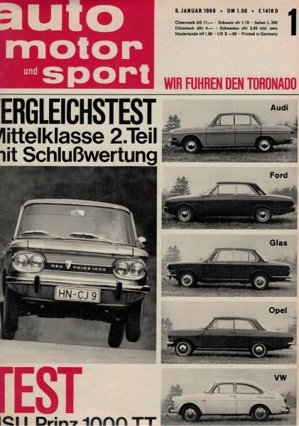 Auto Motor und Sport 1966 Heft 01-08.01.1966