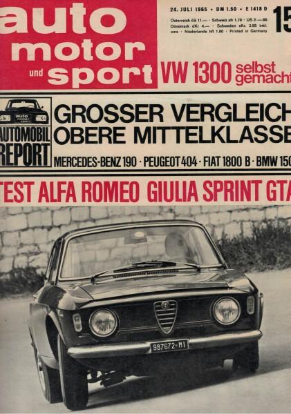 Auto Motor und Sport 1965 Heft 15-24.07.1965