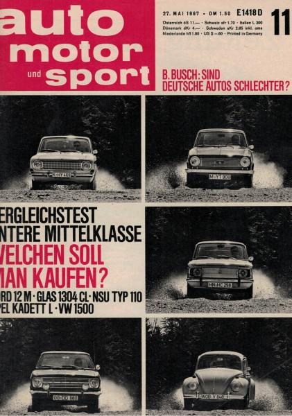 Auto Motor und Sport 1967 Heft 11-27.05.1967