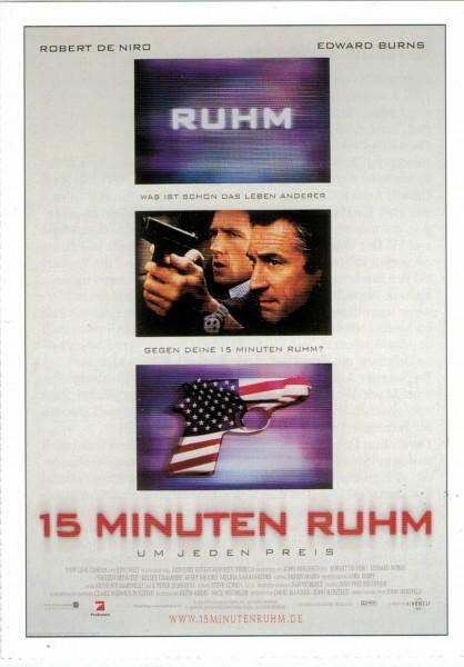 "Cinema Filmkarte ""15 Minuten Ruhm"""
