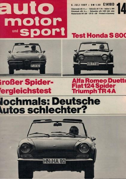 Auto Motor und Sport 1967 Heft 14-08.07.1967