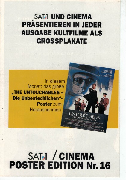 Cinema Poster Edition Nr. 16 - The Untouchables - Die Unsterblichen