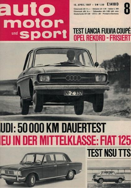 Auto Motor und Sport 1967 Heft 08-15.04.1967