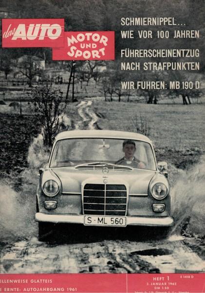 Auto Motor und Sport 1962 Heft 01-02.01.1962