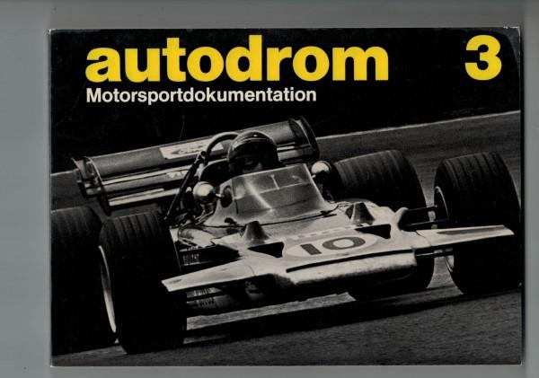 autodrom 03 - Motorsportdokumentation Ausgabe 1971