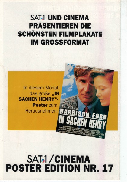 Cinema Poster Edition Nr. 17 - In Sachen Henry