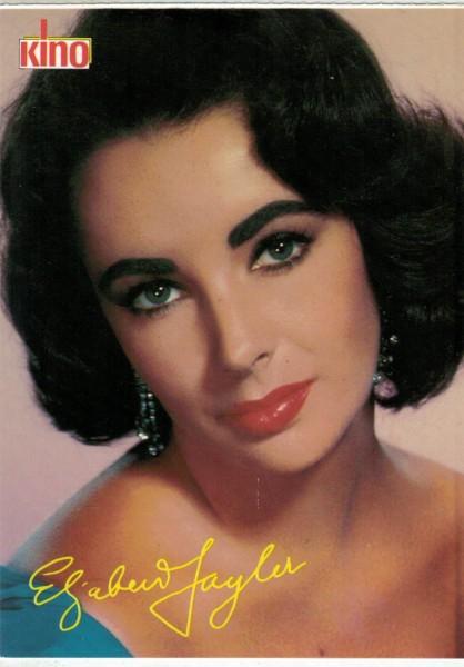 Kino-Autogrammkarte - Liz Taylor