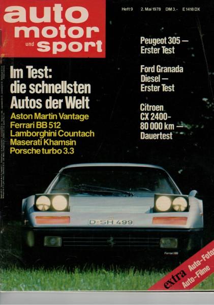 Auto Motor und Sport 1978 Heft 09-02.05.1978