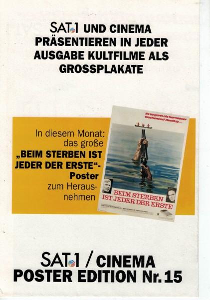 Cinema Poster Edition Nr. 15 - Beim sterben ist jeder der Erste