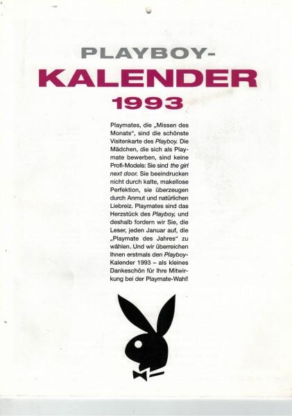 Playboy Playmate Kalender 1993