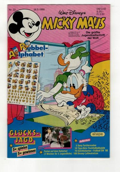 Micky Maus 1988 Nr. 22 / 26.05.1988