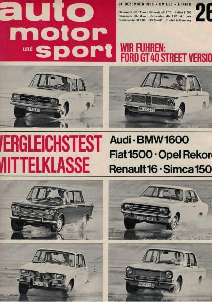 Auto Motor und Sport 1966 Heft 26-24.12.1966