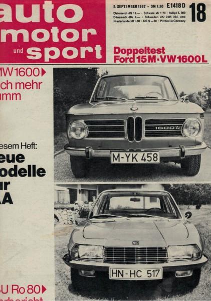 Auto Motor und Sport 1967 Heft 18-02.09.1967