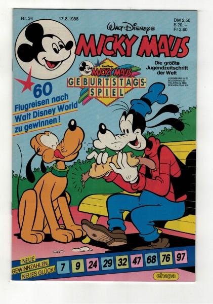 Micky Maus 1988 Nr. 34 / 17.08.1988
