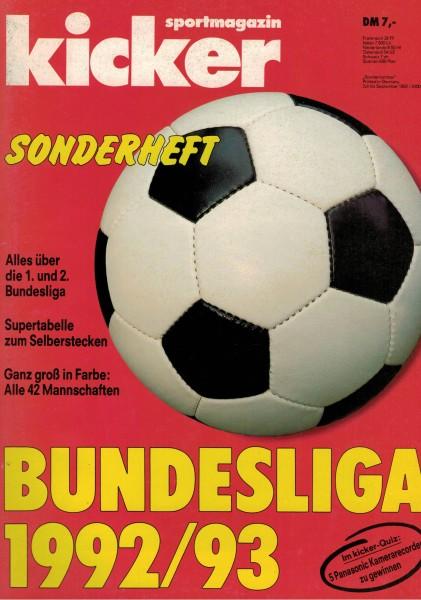 Kicker Sonderheft Bundesliga 1992/93