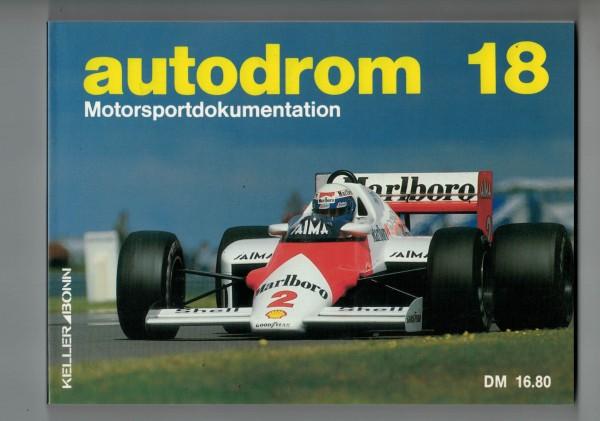 autodrom 18 - Motorsportdokumentation Ausgabe 1986