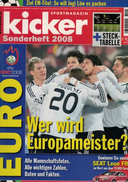 Kicker Sonderheft EURO 2008
