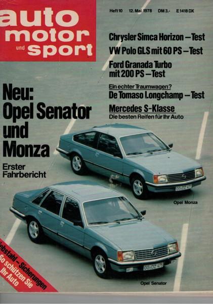 Auto Motor und Sport 1978 Heft 10-12.05.1978
