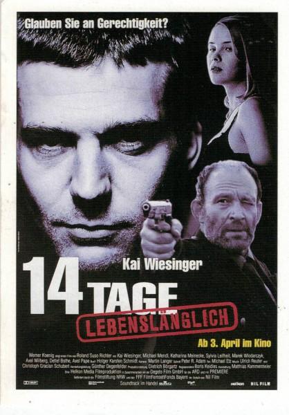 "Cinema Filmkarte ""14 Tage lebenslänglich"""