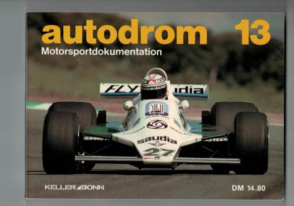 autodrom 13 - Motorsportdokumentation Ausgabe 1981