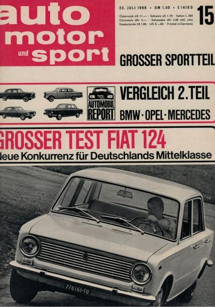 Auto Motor und Sport 1966 Heft 15-23.07.1966