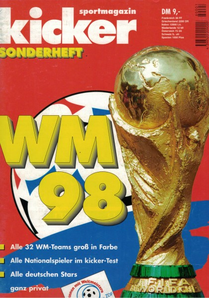 Kicker Sonderheft WM 1998
