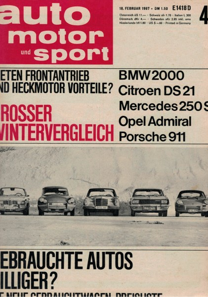 Auto Motor und Sport 1967 Heft 04-18.02.1967