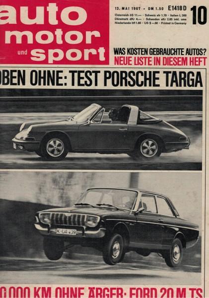 Auto Motor und Sport 1967 Heft 10-13.05.1967