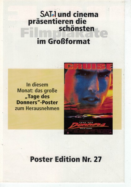Cinema Poster Edition Nr. 27 - Tage des Donners