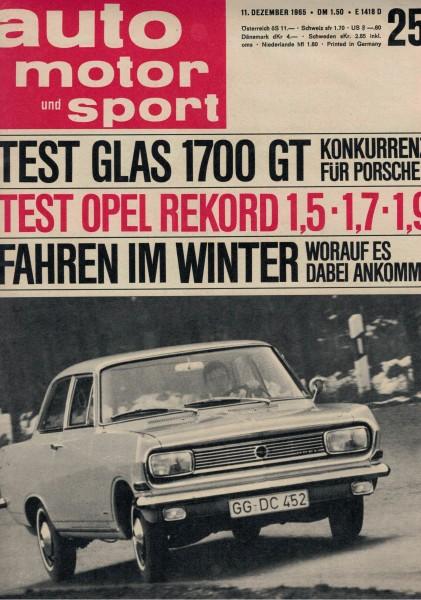 Auto Motor und Sport 1965 Heft 25-11.12.1965