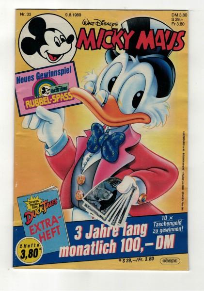 Micky Maus 1989 Nr. 33 / 09.08.1989