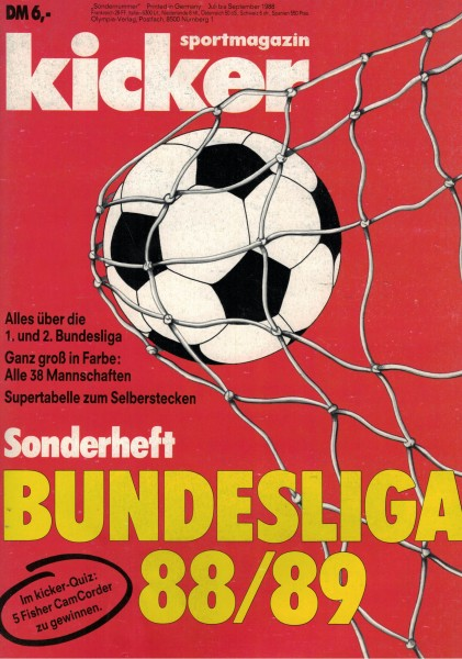 Kicker Sonderheft Bundesliga 1988/89