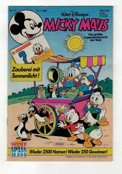 Micky Maus 1989 Nr. 31 / 27.07.1989