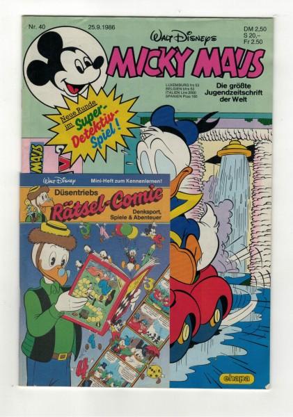 Micky Maus 1986 Nr. 40 / 25.09.1986