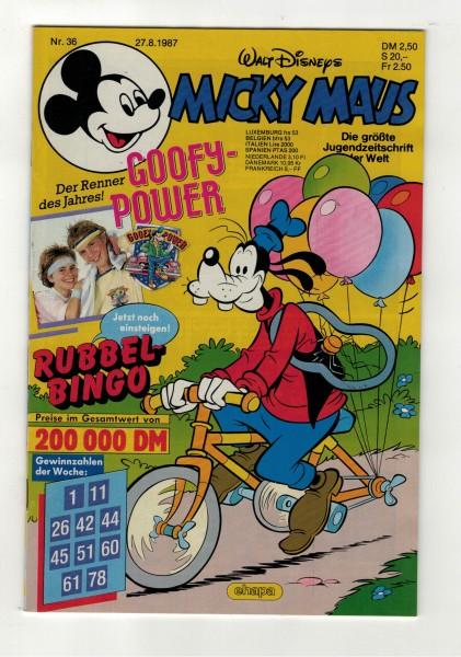 Micky Maus 1987 Nr. 36 / 27.08.1987
