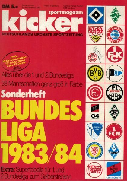 Kicker Sonderheft Bundesliga 1983/84