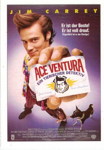 """Cinema Filmkarte """"Ace Ventura - Ein tierischer Detektiv"""""""