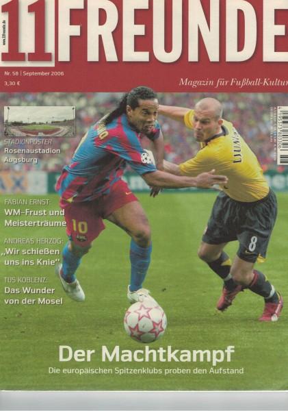 11 Freunde - Heft Nr. 058 - 09 September 2006