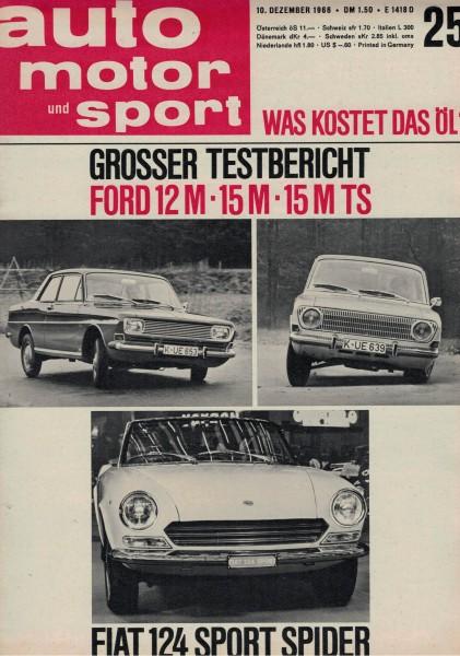 Auto Motor und Sport 1966 Heft 25-10.12.1966
