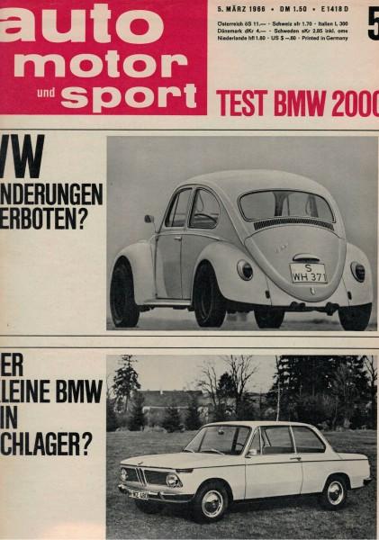 Auto Motor und Sport 1966 Heft 05-05.03.1966