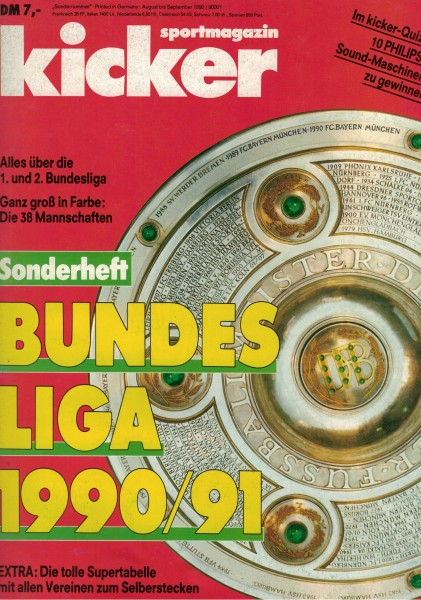 Kicker Sonderheft Bundesliga 1990/91
