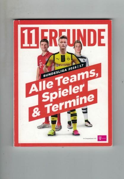 11 Freunde - Bundesliga Planer 2016/17