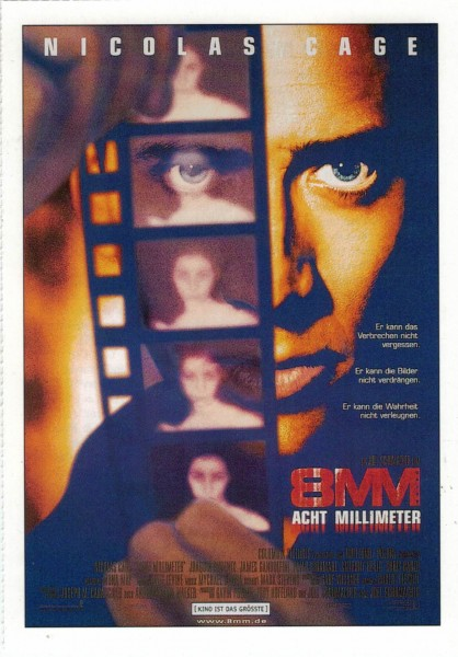"Cinema Filmkarte ""8mm - Acht Milimeter"""