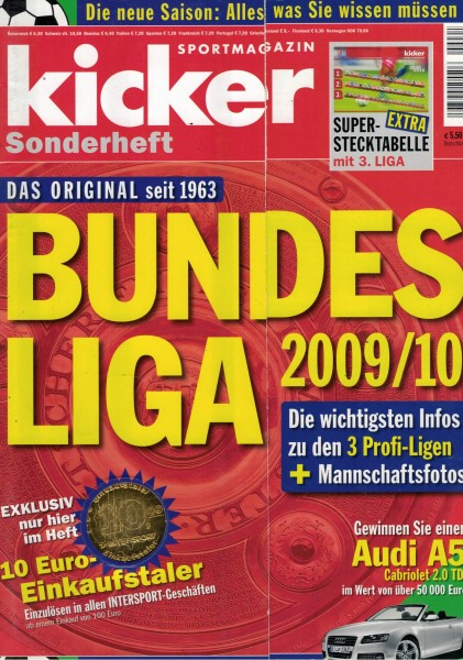 Kicker Sonderheft Bundesliga 2009/10