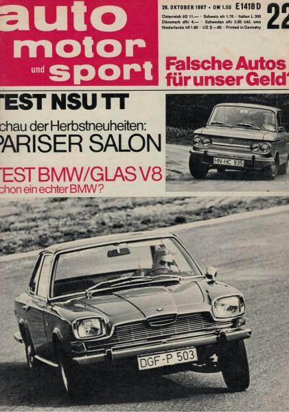 Auto Motor und Sport 1967 Heft 22-28.10.1967
