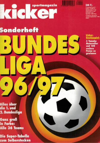 Kicker Sonderheft Bundesliga 1996/97
