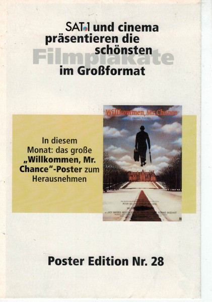 Cinema Poster Edition Nr. 28 - Willkommen, Mr. Chance