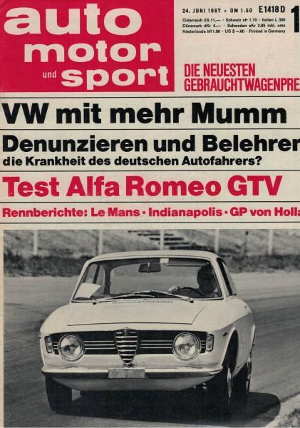 Auto Motor und Sport 1967 Heft 13-24.06.1967