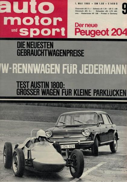 Auto Motor und Sport 1965 Heft 09-01.05.1965